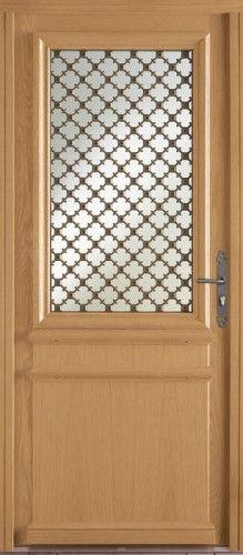 porte bois porte entree bel 39 m classique poignee plaque rustique couleur gris cuivre mi. Black Bedroom Furniture Sets. Home Design Ideas