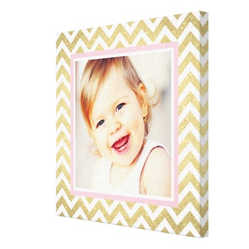 Custom Photo Baby Nursery Art | Patterned Frame Canvas Prints