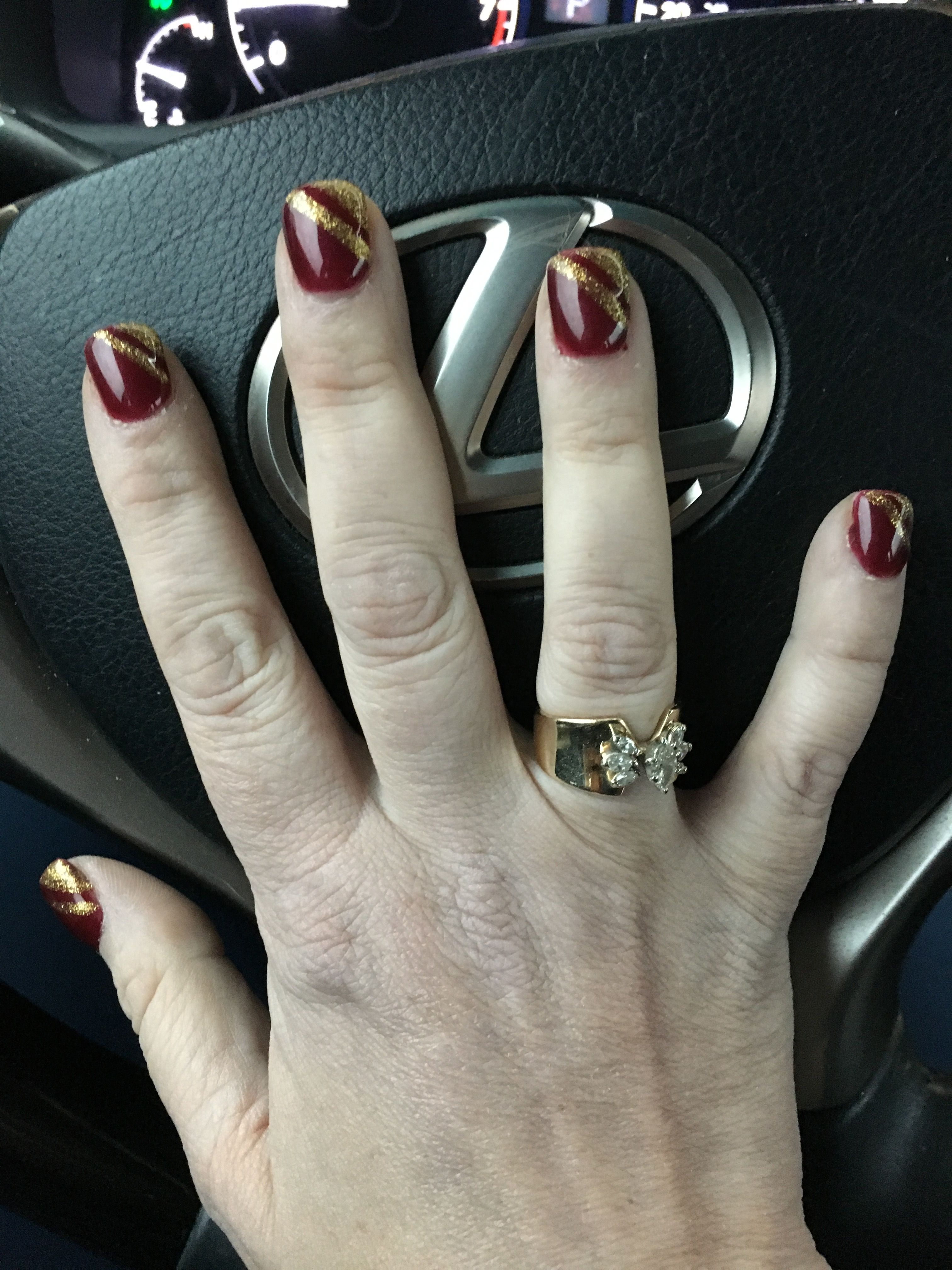 My new nail design, of coarse found the design on here...LOVE THEM ...
