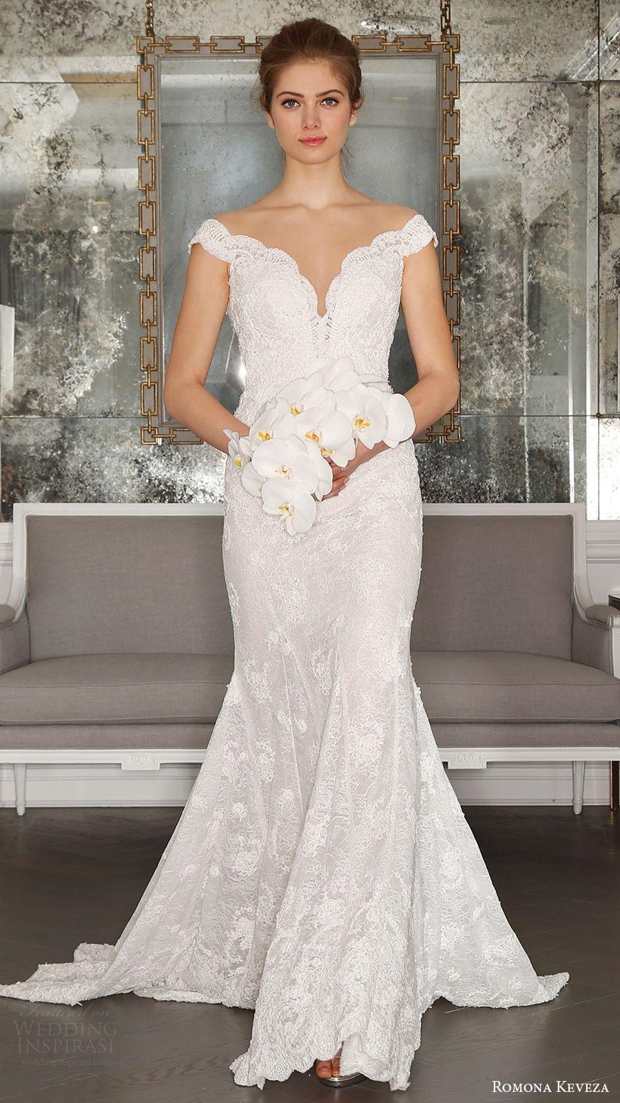 Romona keveza spring 2017 wedding dresses ode to paris for Beaded trumpet wedding dress