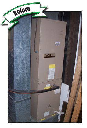 1 Of 2 We Upgraded This Older York Air Handler To A New High