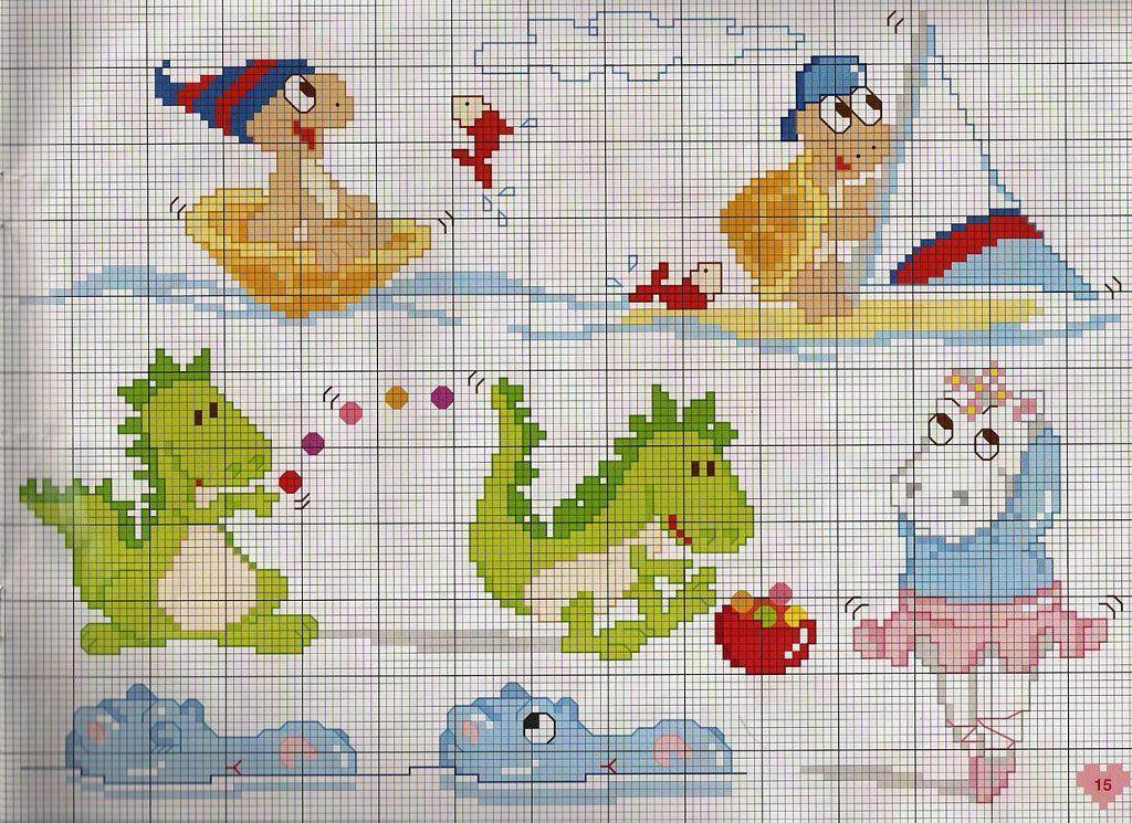 Solo Patrones Punto Cruz   Cross stitch baby, Cross stitch and Stitch