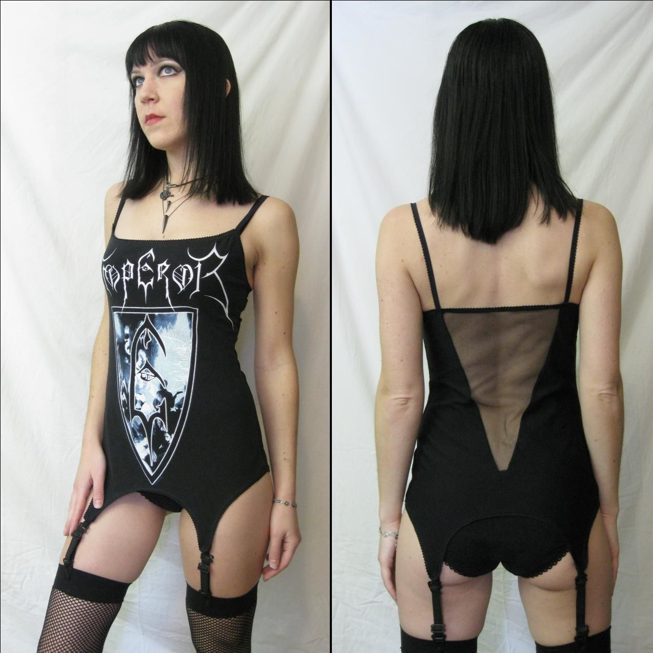 Black t shirt dress etsy - Emperor Garter Straps Tank Available At Www Kissofdoom Etsy Com Upcycled Women S Black