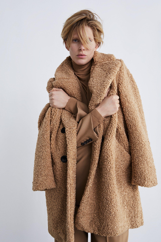 7d72db7b35f2 Shearling textured coat   wishlist   Faux shearling coat, Shearling ...