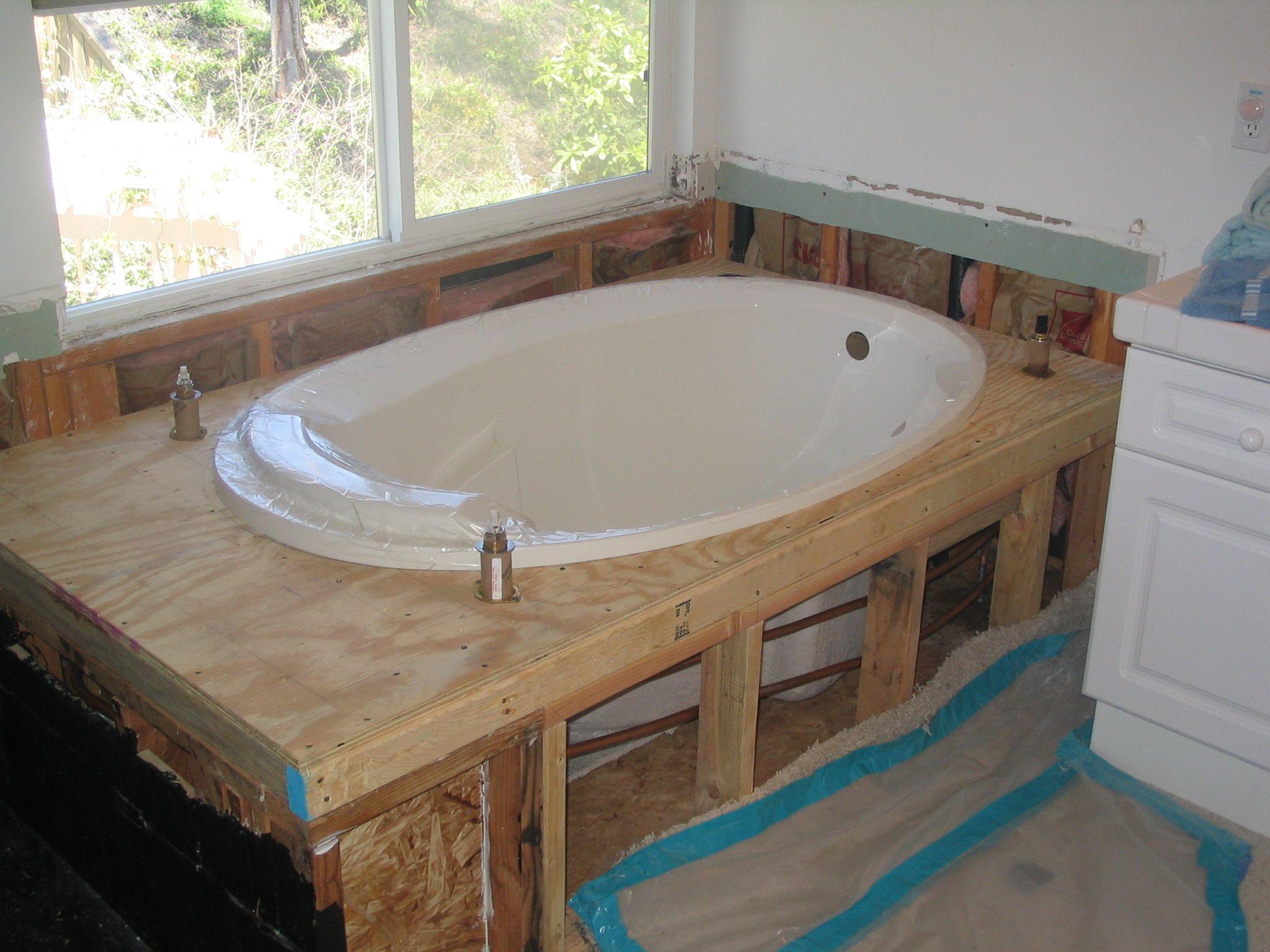Fitting a Bath  How to Install a New Bathtub ...