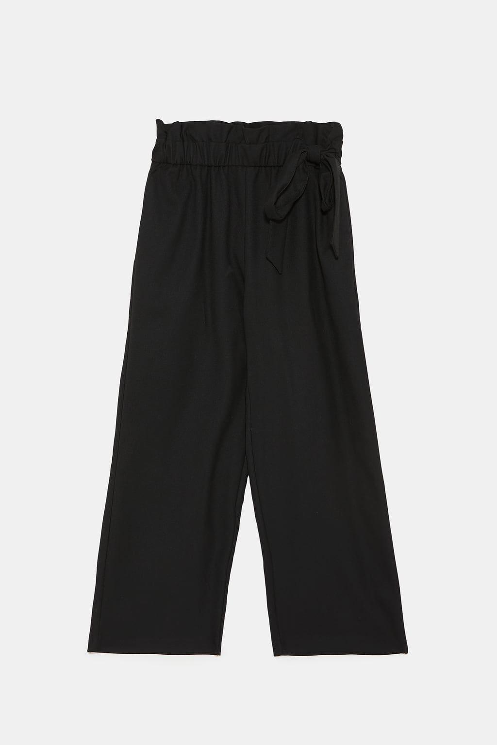 Pantaloni Culotte Con Fiocco Di Zara