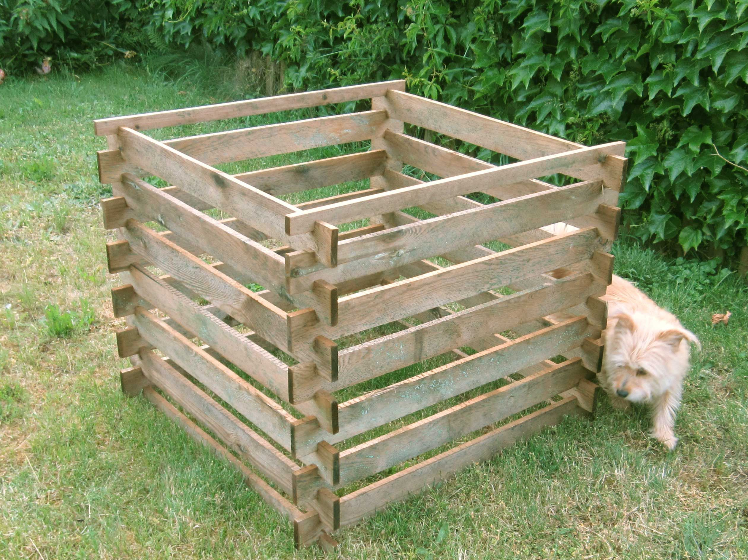 #Komposter aus Holz kesseldruckimprägniert 90 cm x Tiefe ...