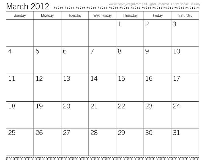 Yay, my favourite monthly calendar printable is 2012-ready. Thank you!
