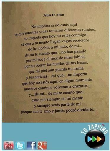 Aún Te Amo Te Extraño Y Siempre Voy A Estar Aún Cuando Tú Estés Lejos De Mi Aquí Puedes Encontrar Frases Interesantes Frases Citas En Español Citas