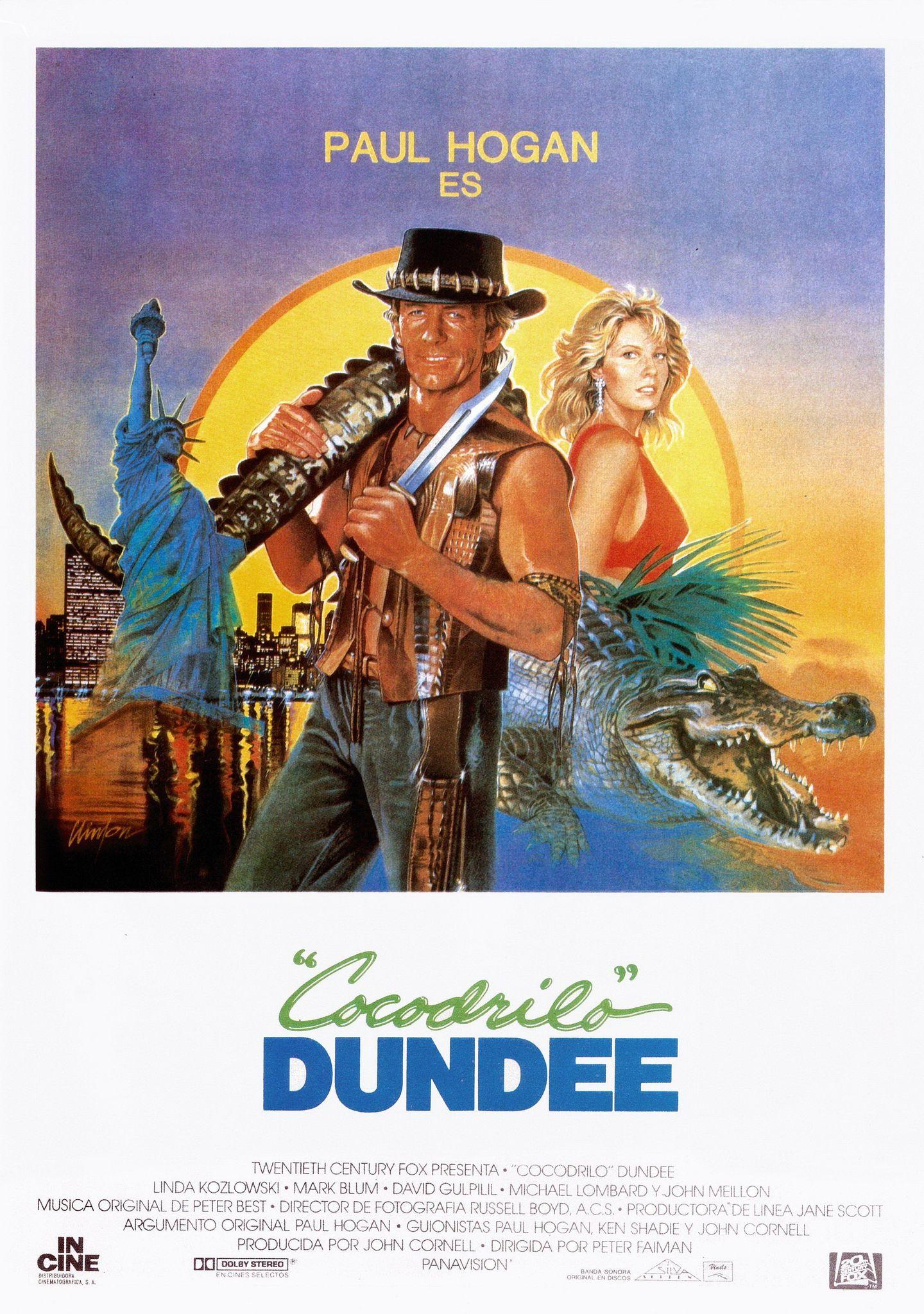 Cocodrilo Dundee Cocodrilo Dundee Dundee Carteles De Peliculas Famosas