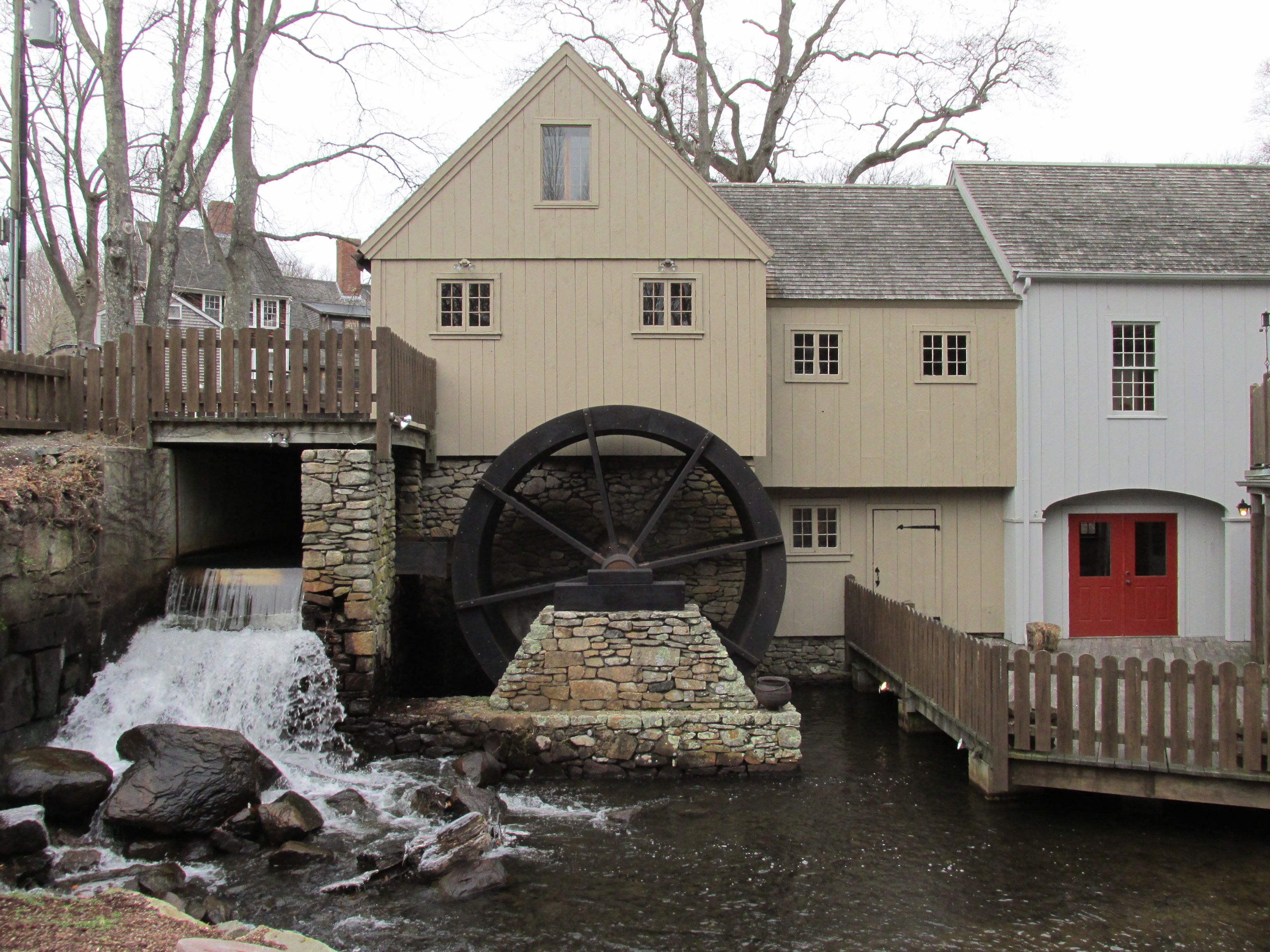Pin on grist mill's