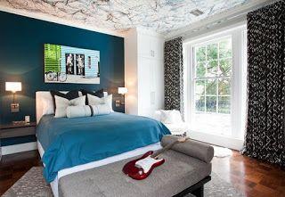 Wandgestaltung schlafzimmer ~ Wandgestaltung schlafzimmer petrol minimalistische haus design