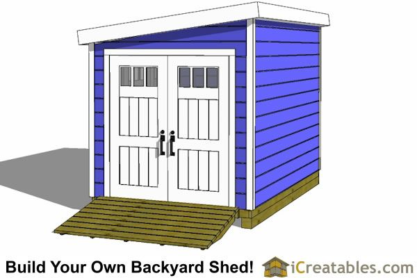 8x12 Lean To Shed Plans With Door On End Lean To Shed Lean To Shed Plans Shed Plans