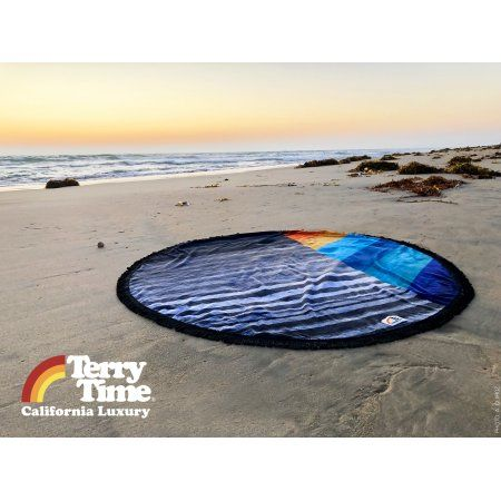 Terry Time Round Towel The Freida Multicolor Round Beach
