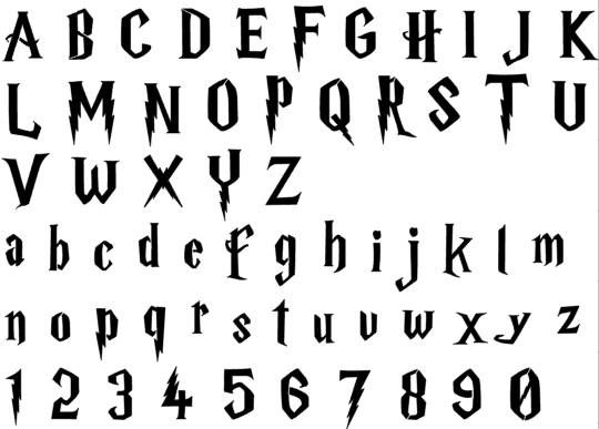 harry potter alphabet font stencil this listing is for individual letters please select the size