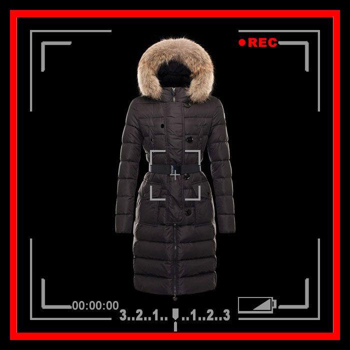 Women's fur trimmed hooded belted long puffer coat US $139.99