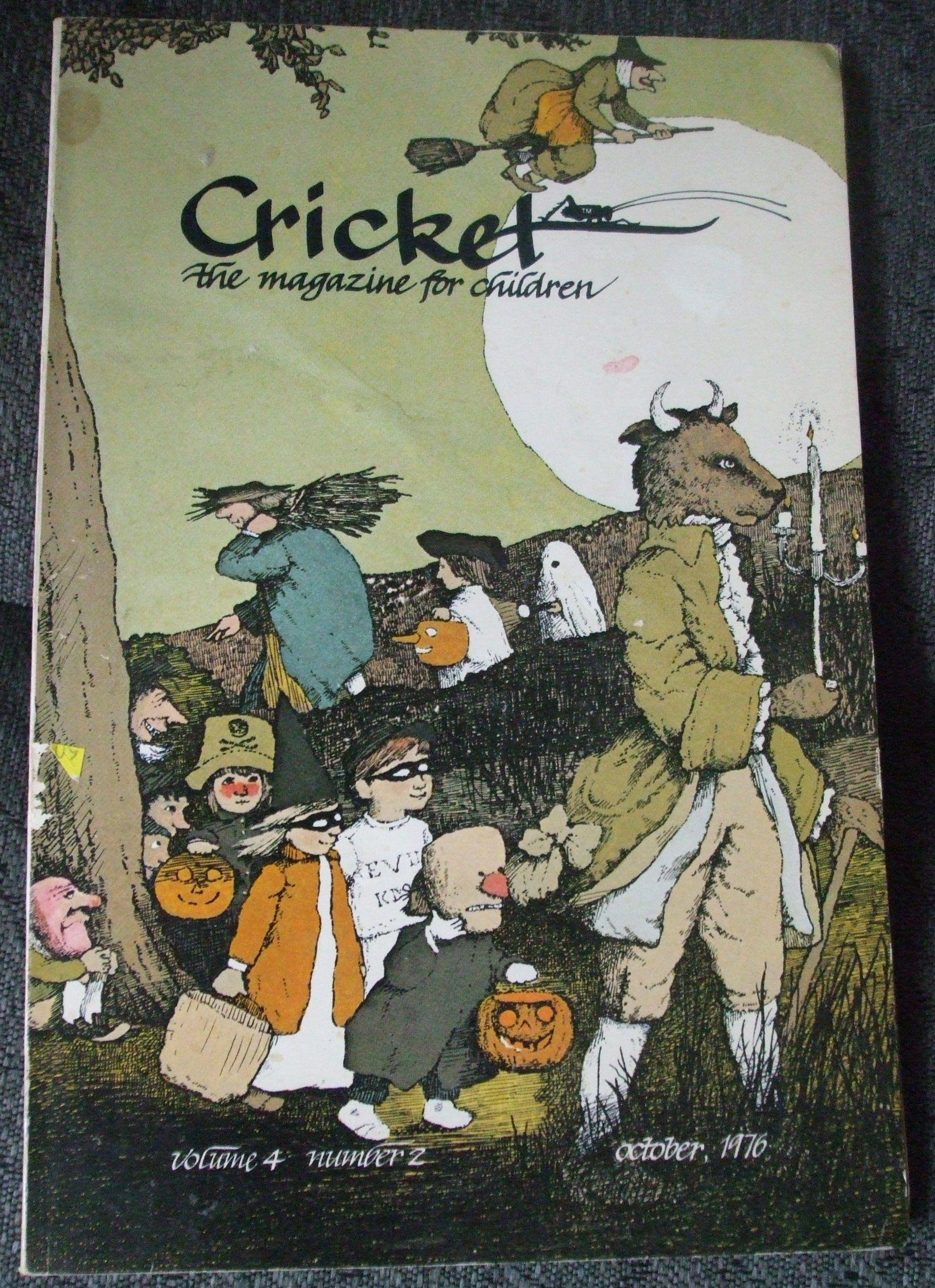 Cricket the magazine for children halloween 1976