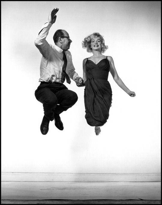 adreciclarte:  Philippe Halsmans self-portrait with Marilyn Monroe 1959