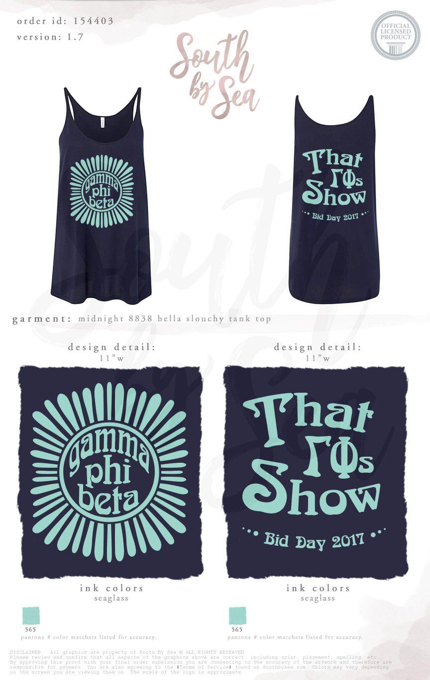 Gamma Phi Beta | G Phi B | That 70s Show | Bid Day Theme | Retro ...