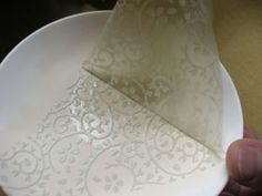 How To Apply Japanese Tissue Transfer Papers Ceramic Pinterest