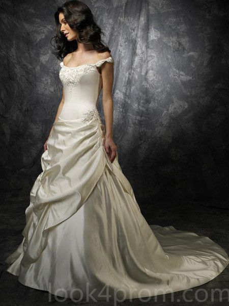 Look for Taffeta Wedding Dress