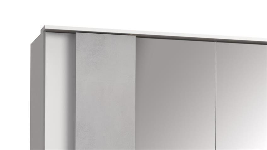 Kleiderschrank Chicago 5 Trg Weiss Beton Lichtgrau 250 Cm