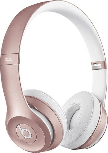 Beats By Dr Dre Solo2 On Ear Wireless Headphones Rose Gold Mllg2am A Best Buy Headphones Rose Gold Headphones Rose Gold Beats