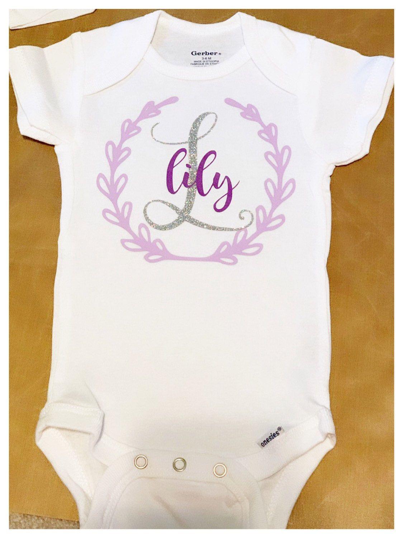 Custom Baby Onesie Personalized Baby Name Gerber Onesie Personalized Baby Onesie Personalized Baby Name Onesie Custom Baby Name Onesie