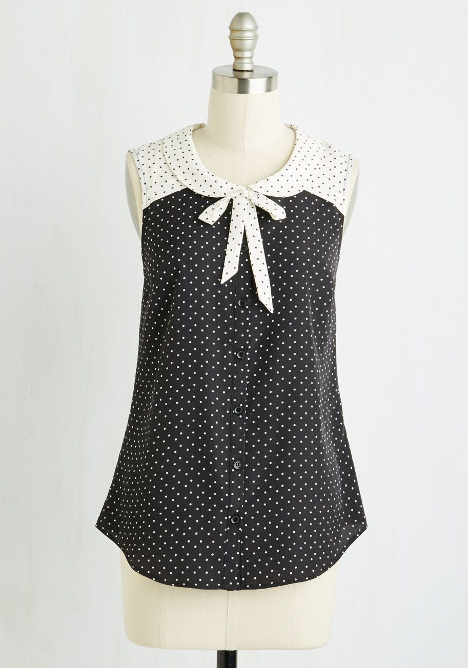 55b5f416e Fashionably Elate Top in Black by ModCloth - Black