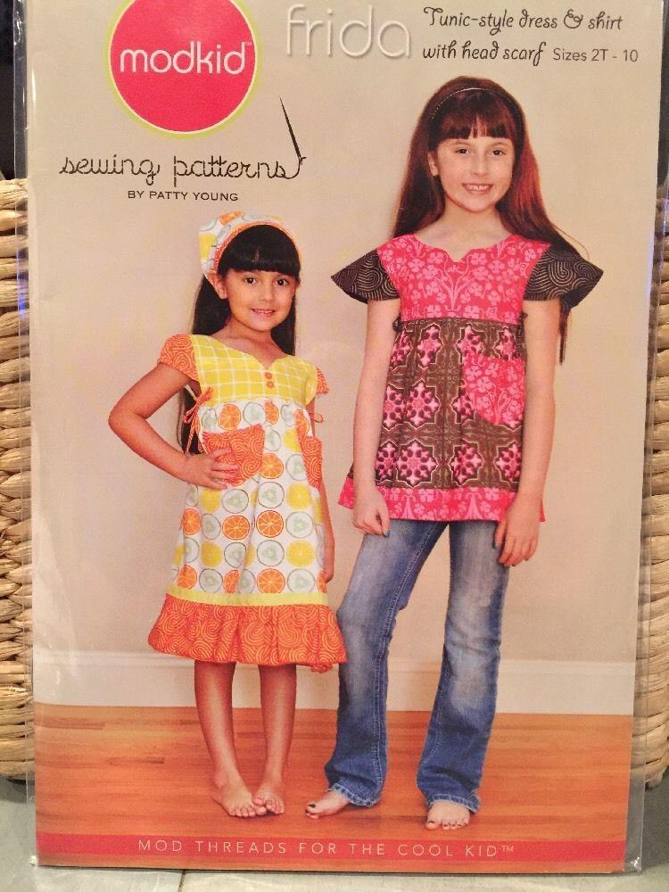 Mod kid Frida Tunic-style Dress & Shirt Sewing Pattern Size2-10 ...