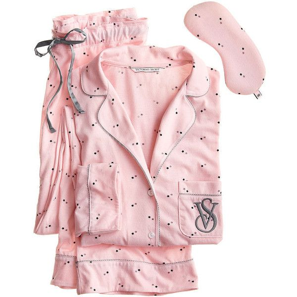 ac28de978449 Victoria's Secret The Sleepover Knit Pajama ($55) ❤ liked on Polyvore  featuring intimates, sleepwear, pajamas, pijama, victoria secret sleepwear,  victoria ...