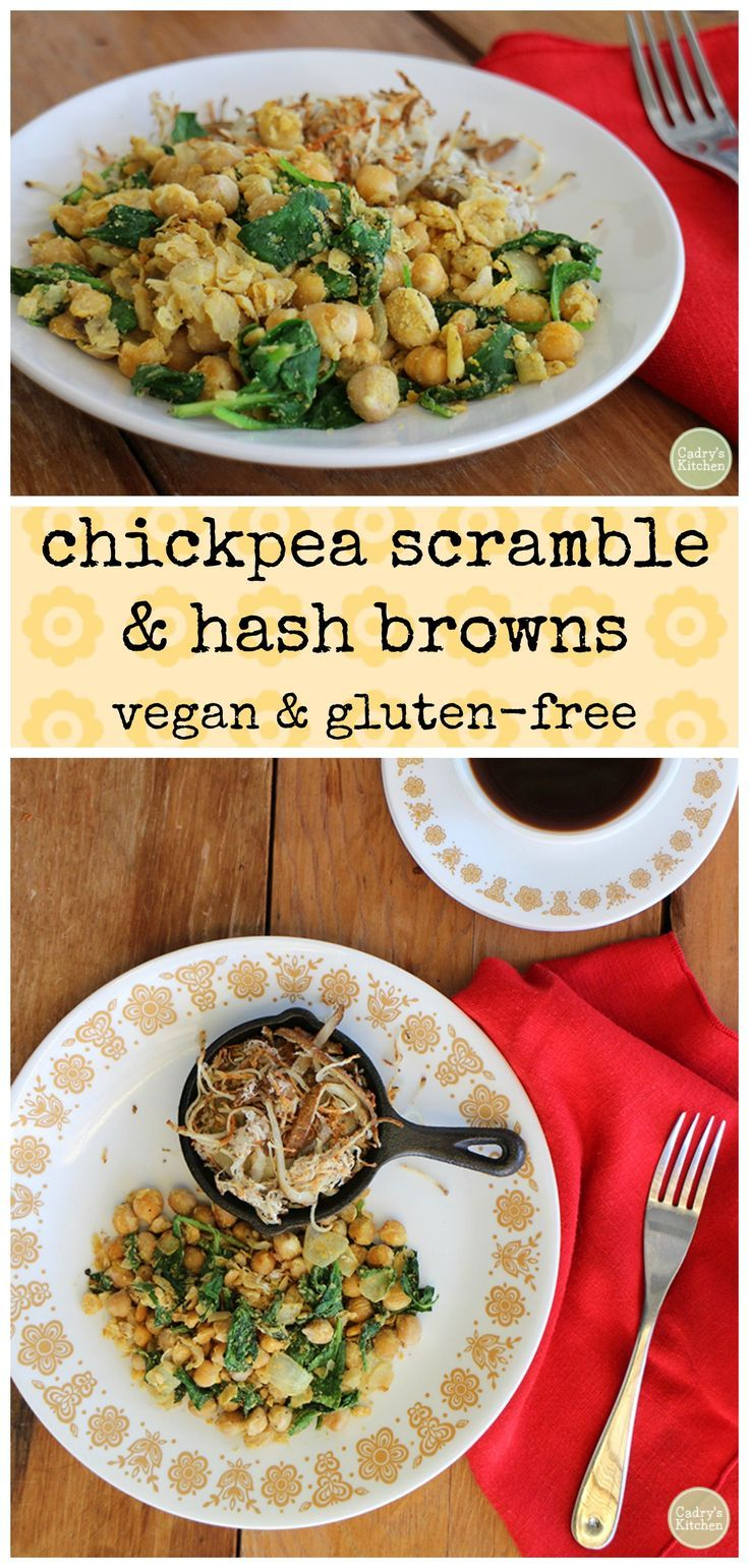 Chickpea scramble & hash browns Recipe (With images