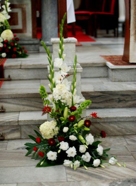Kompozycja Kosciol Jpg 438 600 Church Flower Arrangements White Flower Arrangements Flower Arrangements
