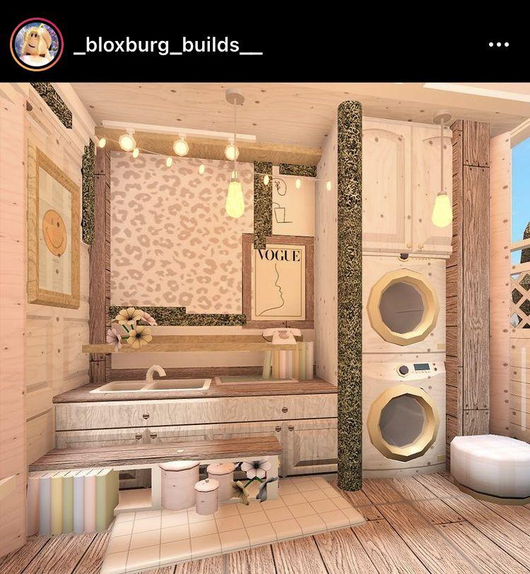 ꒰ boho, floral laundry room ꒱