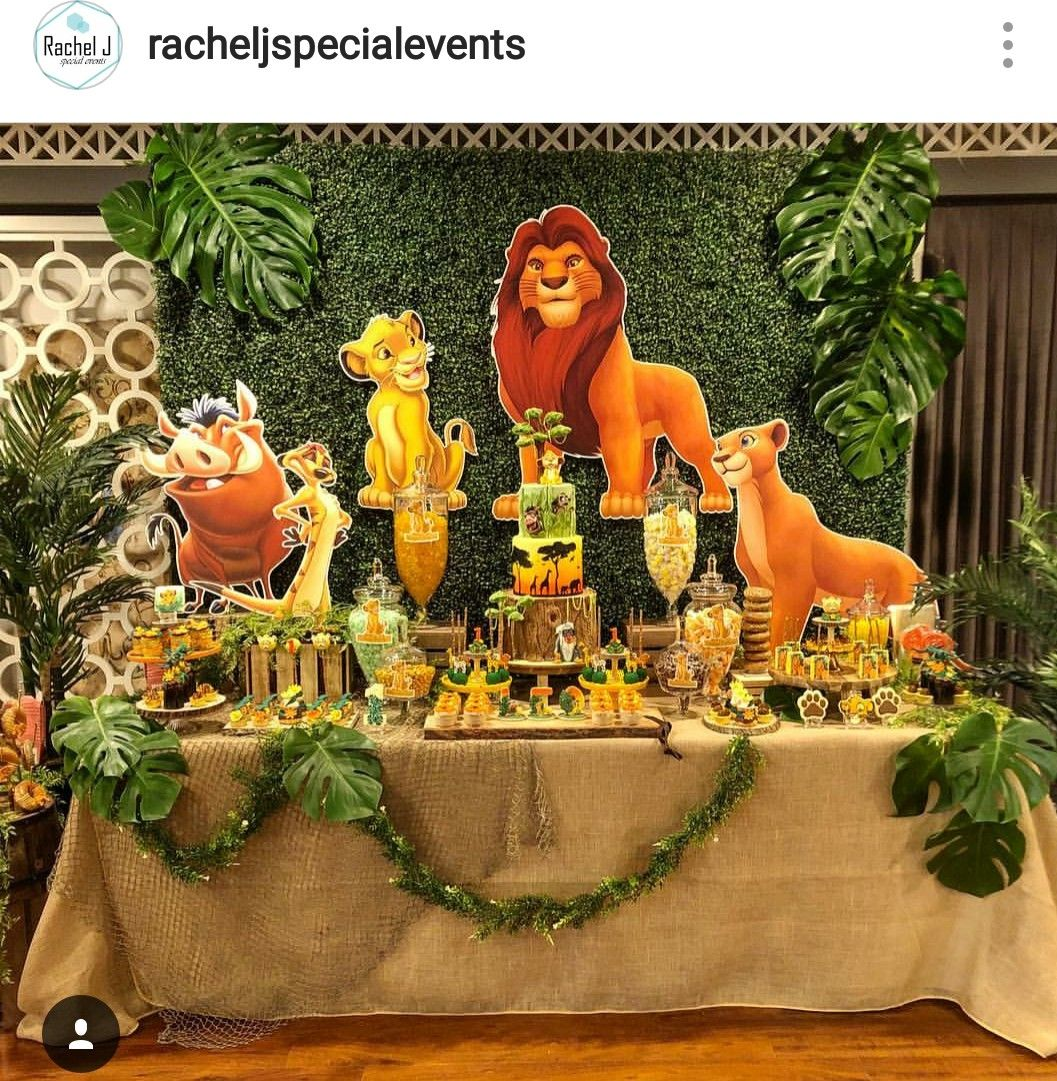 Lion King Theme Birthday Party Dessert Table And Decor With