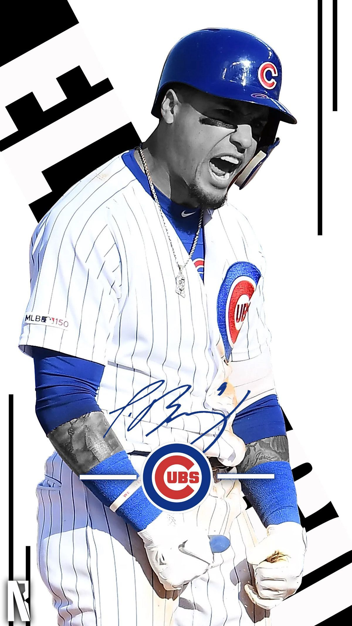 Mlb Edits On Behance In 2020 Chicago Cubs Wallpaper Cubs Baseball Chicago Cubs
