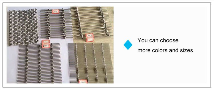 Stainless Steel Decorative Woven Wire Deco Metal Architectural Mesh ...