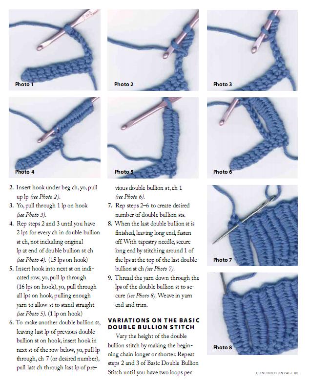 The Double Bullion Stitch #crochet