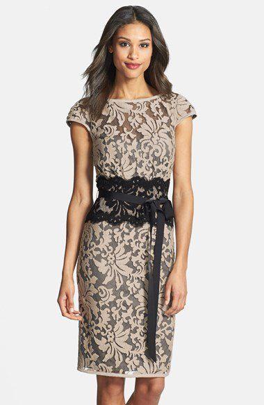 3dc876d9dfa Tadashi Shoji Embroidered Lace Sheath Dress