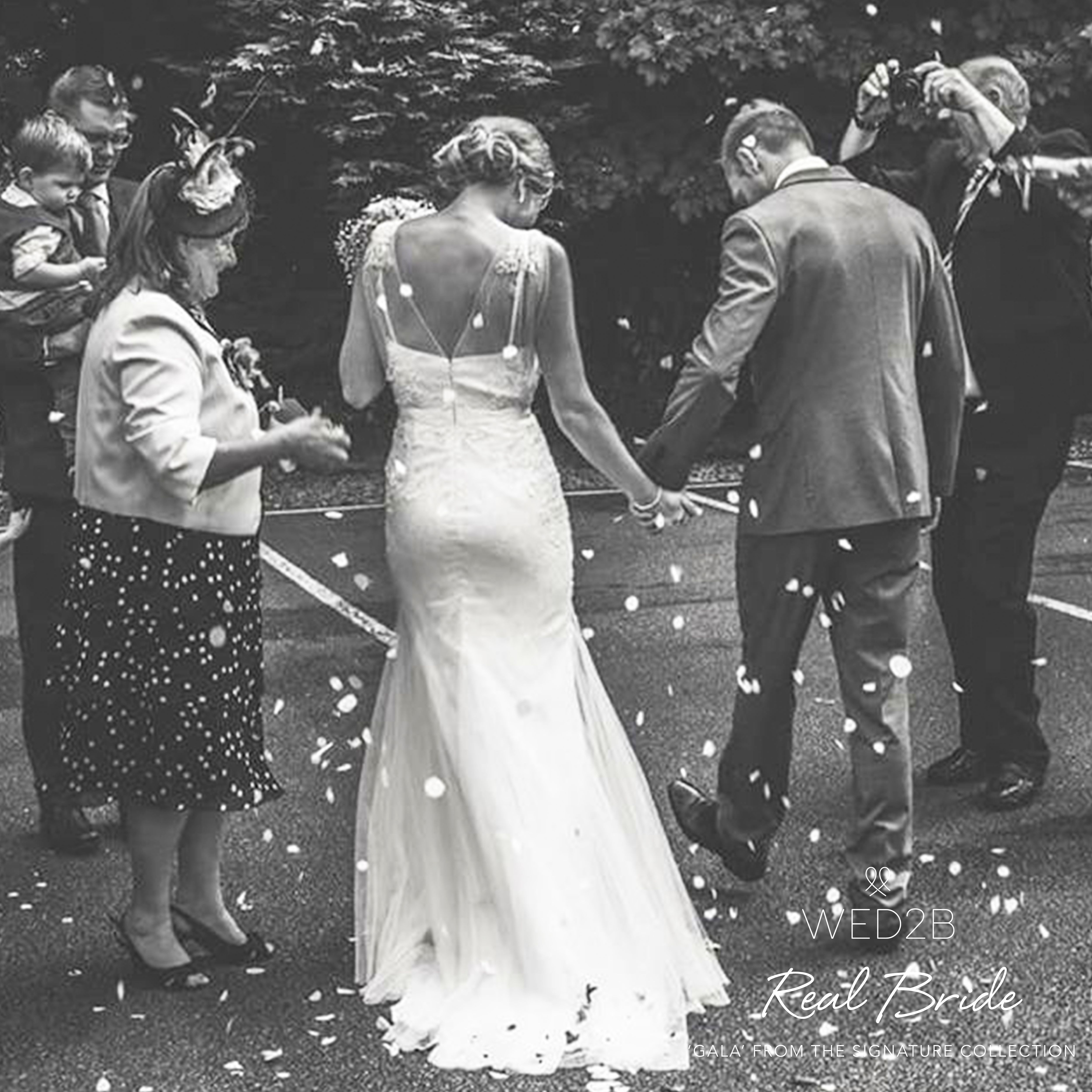 Real Brides Wed2b: Stunning Real Bride Julie In Our Signature Collection Gown