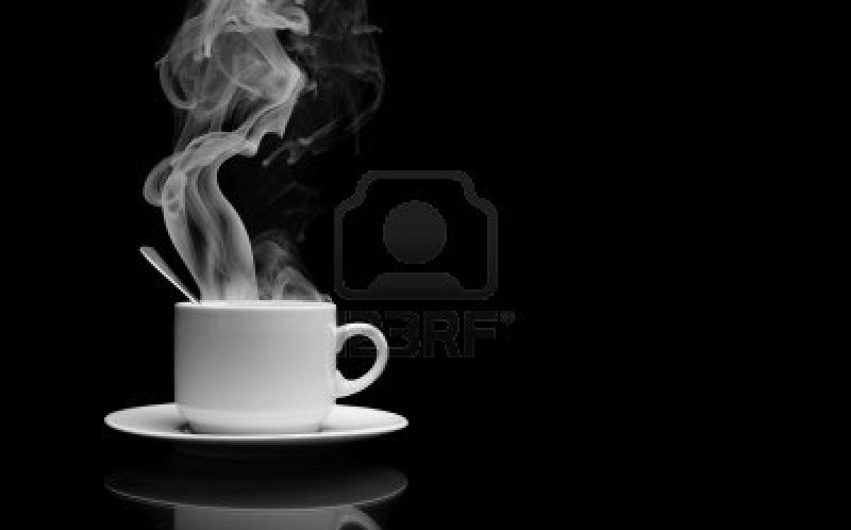 Cup Of Hot Drink With Steam Over Black Background Stock Photo Good Earth Tea Hot Drink Drinking Hot Water