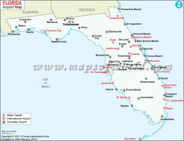 httpbitly1xsbU5x Florida Airports Map USA Florida