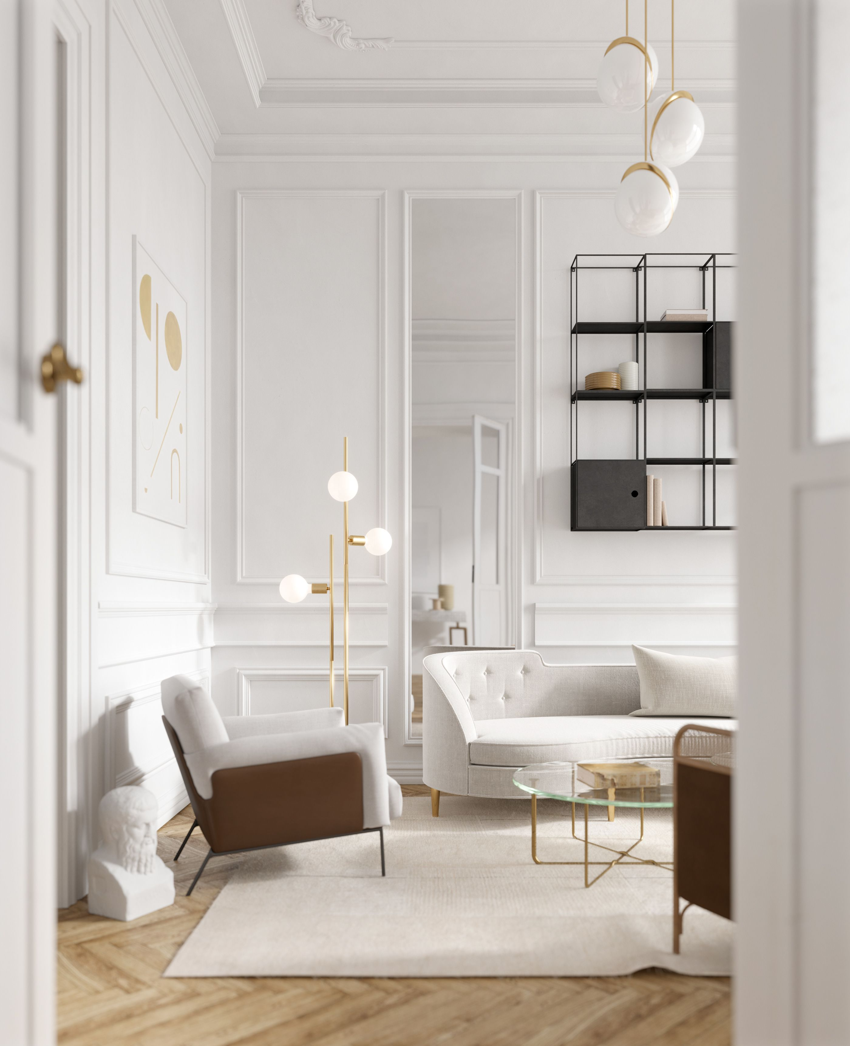 Living Decor White Gold Grey Brown On Behance With