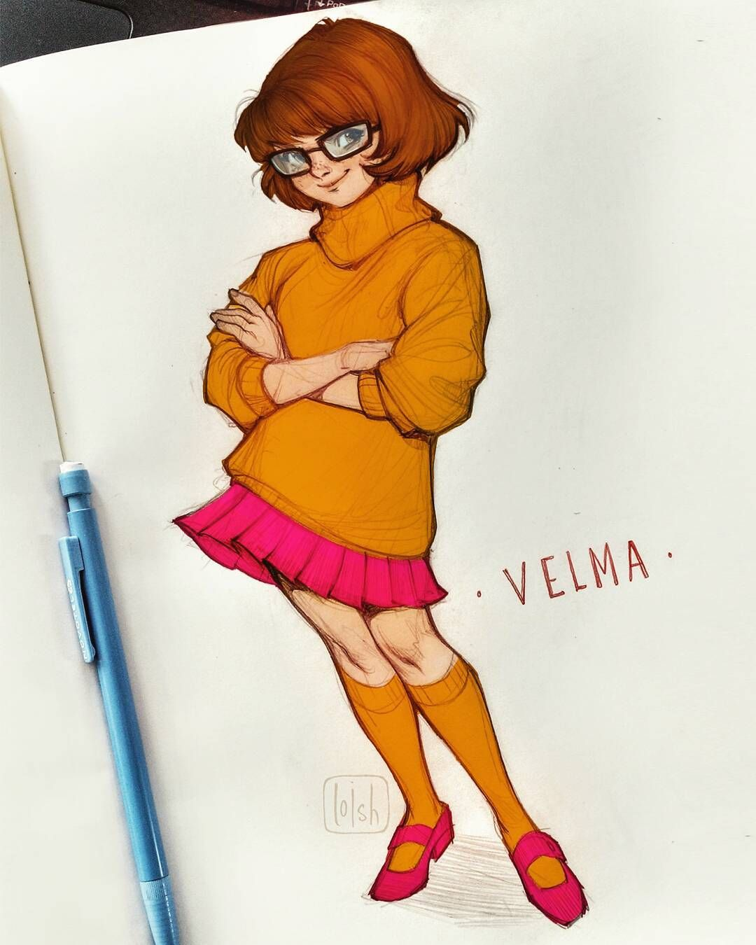 Velma (again)! Just Put Some Basic Photoshop Colors On Top