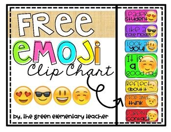 Emoji fun behavior clip chart mini bulletin board pinterest charts and also rh