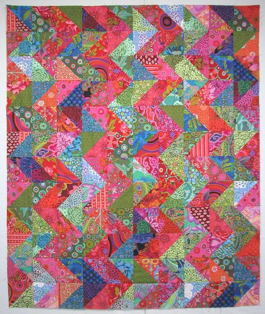 Exuberant Mix Of Colors And Patterns: This Quilt Is By Exuberant Color. I Love Wanda's Quilts