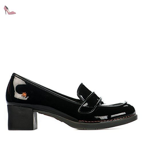 Millim verni Chaussures ART 079 art Noir Mocassins femme AqxpOwOC