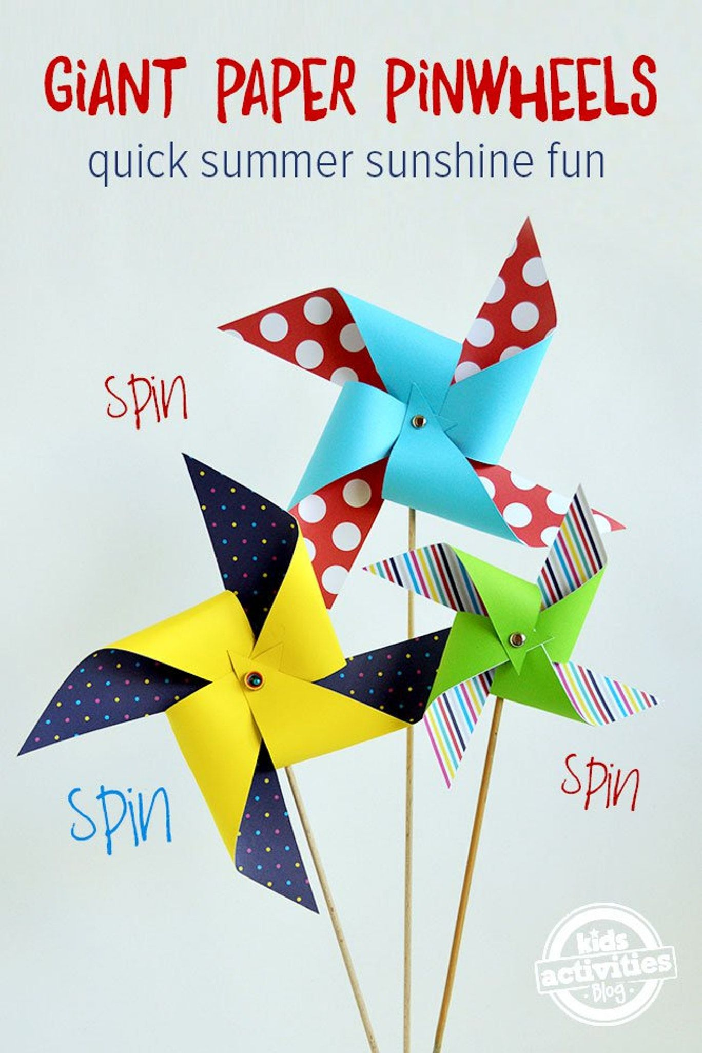 Quick N Easy Giant Paper Pinwheels Kids