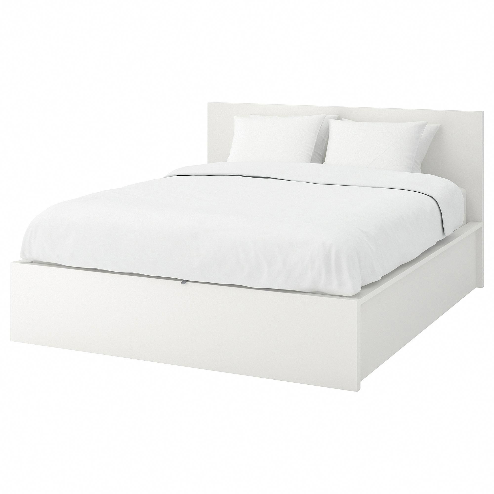 Malm Storage Bed White Full Double Ikea Ikeabedroomideas Bed Frame With Storage Ikea Bed Malm Bed