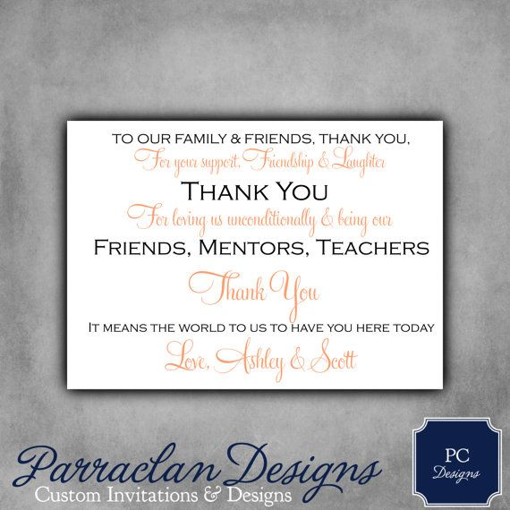 Wedding Reception Thank You Cards by ParraclanDesigns on Etsy, $38.00